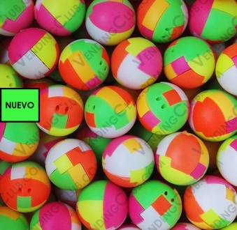 CLAVE 535 <br><strong>PELOTA ARMABLE 32MM PUZZLE BALLS VC</strong><br>100 PIEZAS