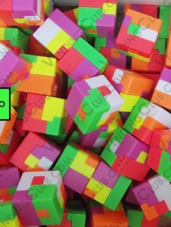 CLAVE 536 <br><strong>CUBO 1&#8243; ARMABLE PUZZLE </strong><br>100 PIEZAS