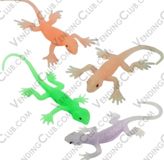 CLAVE 113 <br><strong>IGUANAS VINIL FLUORESCENTES </strong><br>100 PIEZAS