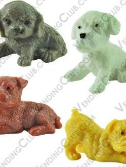 CLAVE 122 <br><strong>ADOPT A PUPPY FIGURES </strong><br>100 PIEZAS