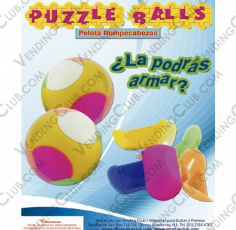 CLAVE 71 <br><strong>PELOTA ARMABLE 32MM PUZZLE BALLS </strong><br>100 PIEZAS