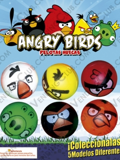 CLAVE 97 <br><strong>PELOTA HUECA 30MM ANGRY BIRDS </strong><br>100 PIEZAS