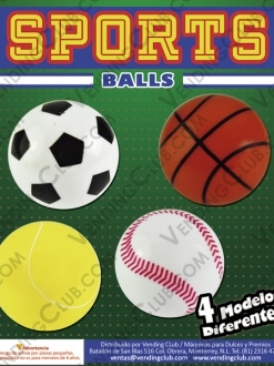 CLAVE 72 <br><strong>PELOTA HUECA 32MM SPORTS </strong><br>100 PIEZAS