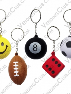 CLAVE 431 <br><strong>ANTI STRESS BALLS AND DICE KEYCHAINS </strong><br>100 PIEZAS