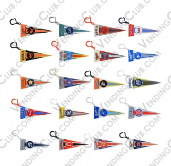 CLAVE 524 <br><strong>MLB PENNANT CLIPS </strong><br>30 PIEZAS