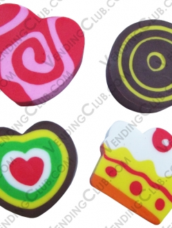 CLAVE 550 <br><strong>CANDIES ERASERS </strong><br>100 PIEZAS