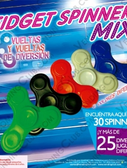 CLAVE 584 <br><strong>FIDGET SPINNERS MIX $10 BULK </strong><br>100 PIEZAS
