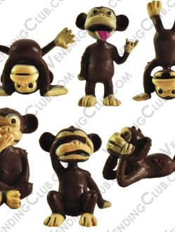 CLAVE 70 <br><strong>MONKEYS FIGURINES </strong><br>100 PIEZAS