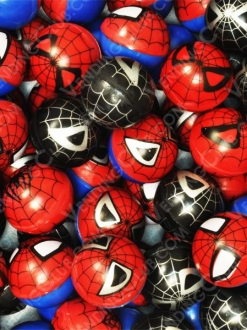 CLAVE 92 <br><strong>PELOTA HUECA 30MM SPIDER MAN</strong><br>100 PIEZAS
