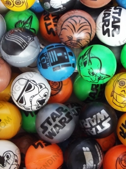 CLAVE 96 <br><strong>PELOTA HUECA 30MM STAR WARS </strong><br>100 PIEZAS