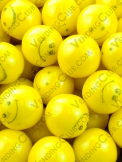 CLAVE 320 <br><strong>CHICLE HAPPY FACE AMARILLO </strong><br>1.4KG