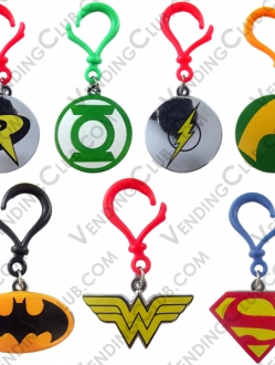 CLAVE 62 <br><strong>DC COMICS BACKPACK CLIPS </strong><br>100 PIEZAS