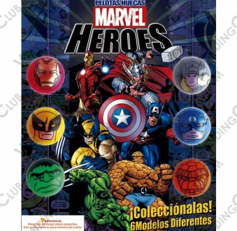 CLAVE 98 <br><strong>PELOTA HUECA 30MM MARVEL </strong><br>100 PIEZAS