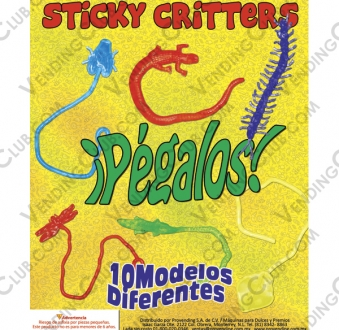 CLAVE 439 <br><strong>STICKY CRITTERS $5 ENCAPSULADOS </strong><br>200 PIEZAS