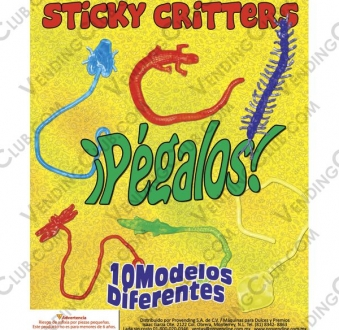 EXHIBIDOR STICKY CRITTERS