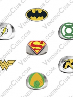 CLAVE 656 <br><strong>DC COMICS POWER RINGS $10 – 1″ ENCAPSULADOS </strong><br>100 PIEZAS