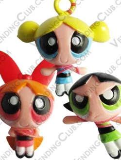 CLAVE 642 <br><strong>THE POWERPUFF GIRLS FIGURINES $10 IN BULK </strong><br>100 PIEZAS