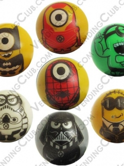 CLAVE 78 <br><strong>PELOTA HUECA 30MM MINIONS </strong><br>100 PIEZAS