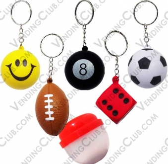 CLAVE 928 <br><strong>ANTI STRESS BALLS AND DICES KEYCHAINS $20 ENCAPSULADOS </strong><br>100 PIEZAS