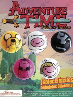 EXHIBIDOR PELOTA ADVENTURE TIME 30 MM