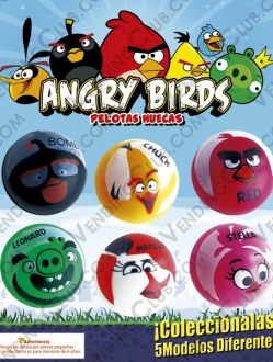 CLAVE 280 <br><strong>PELOTA HUECA 30MM ANGRY BIRDS 2016 </strong><br>100 PIEZAS