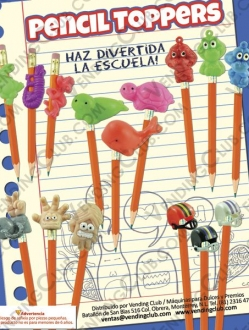 CLAVE 211 <br><strong>PENCIL TOPPERS $5 ENCAPSULADOS </strong><br>200 PIEZAS