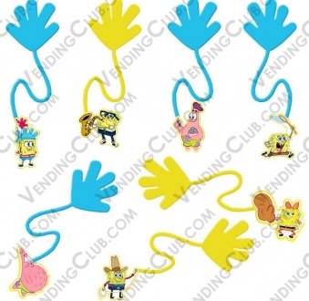 CLAVE 38 <br><strong>SPONGEBOB STICKY HANDS </strong><br>100 PIEZAS